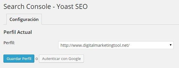 Wordpress SEO Yoast - Search Console