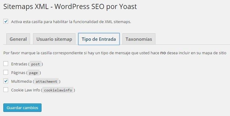 Wordpress SEO Yoast - Sitemaps XML