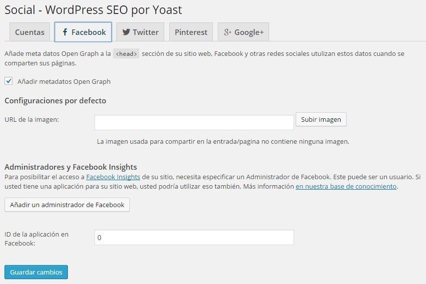 Wordpress SEO Yoast - Social Facebook