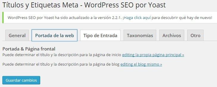 Wordpress SEO Yoast - Títulos y Etiquetas Meta Portada