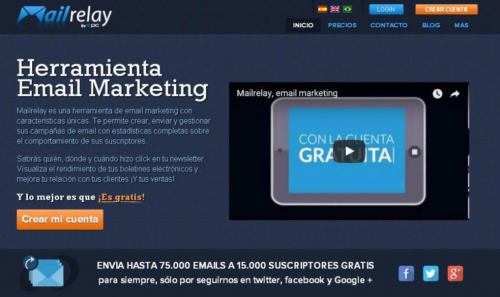 Crear Cuenta Mailrelay