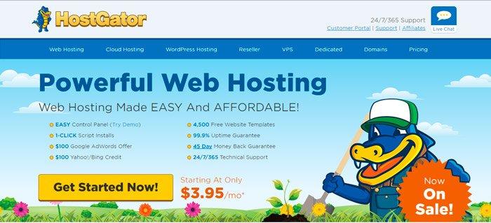 Mejor hosting para wordpress - Opinión Hostgator
