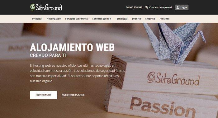 Mejor hosting para wordpress - Opinión SiteGround