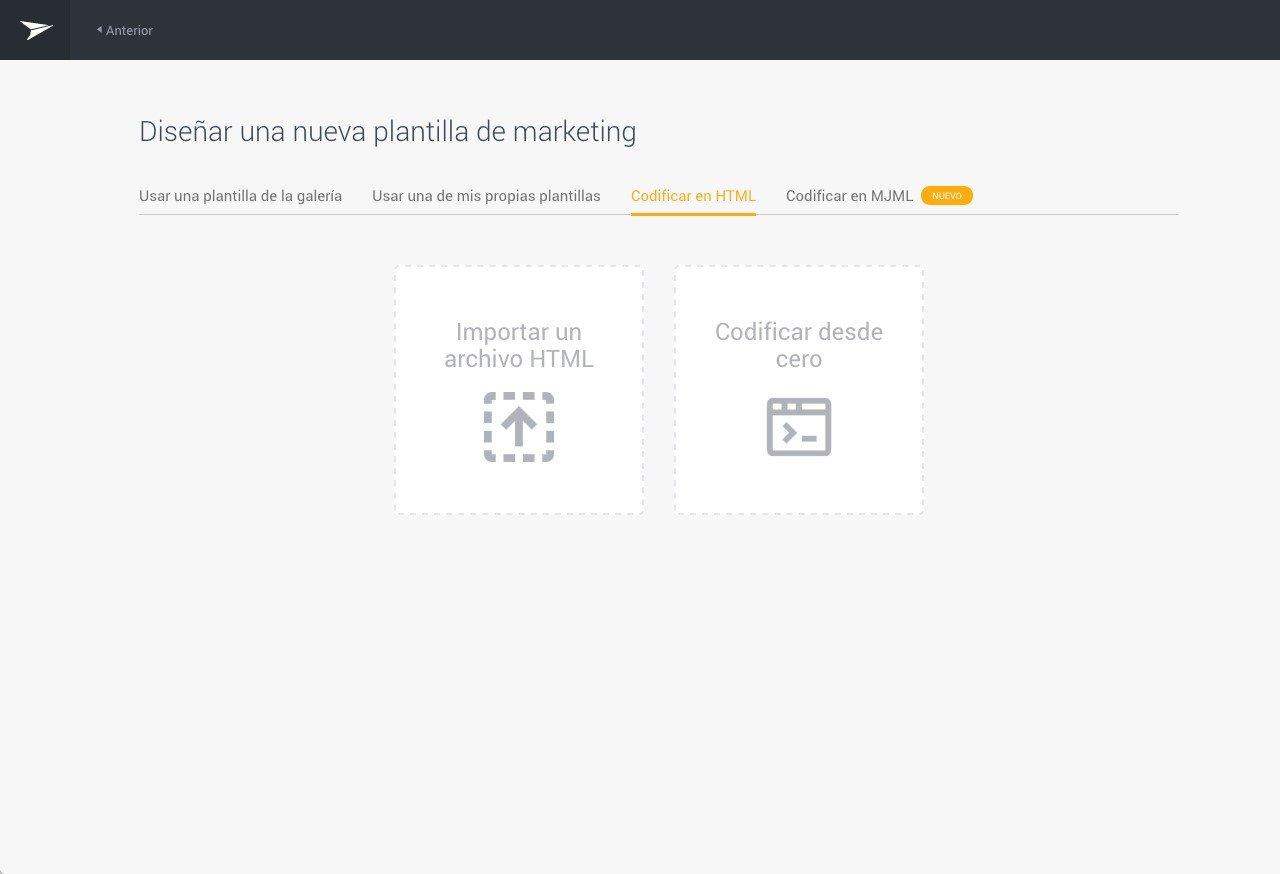 Mailjet - Codificar en HTML