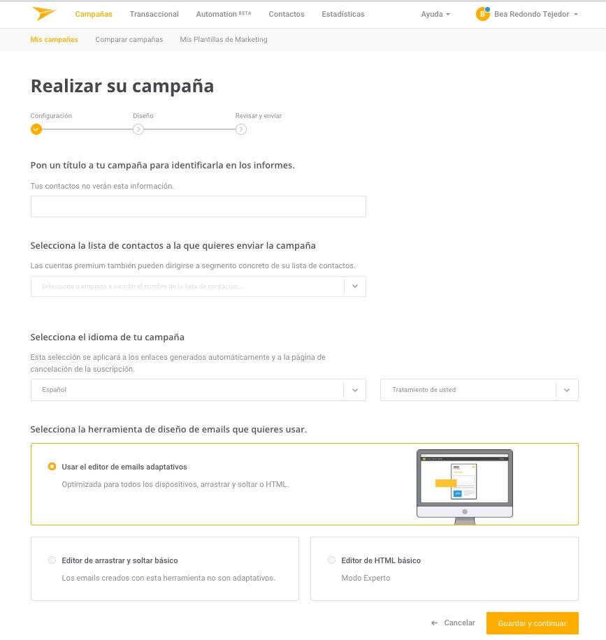 Mailjet - Realizar una campaña