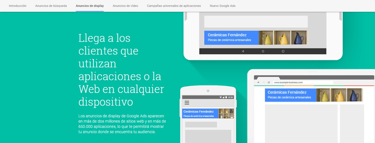 Anuncios de display - tutorial de Google Adwords Ads
