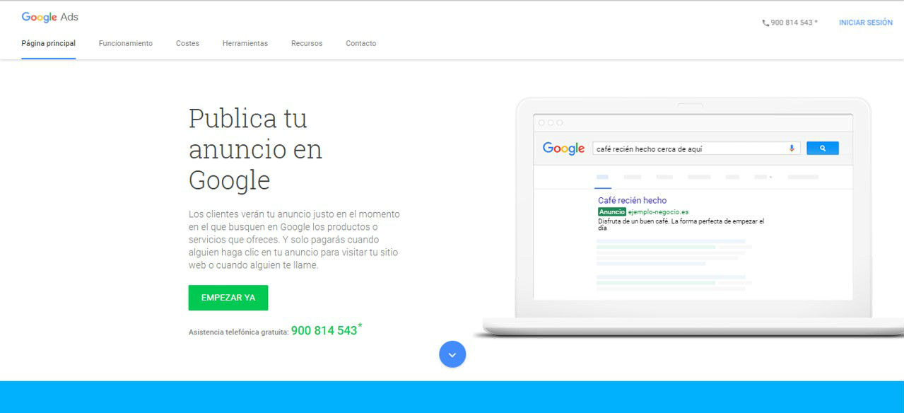 Iniciar sesión - tutorial de Google Adwords Ads